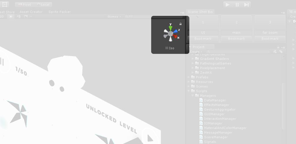 Scene Shot Bookmarks in Unity
